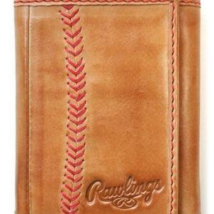 Rawlings Baseball Stitch Trifold Wallet